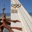 Stock Photo: Olympic games sculpture