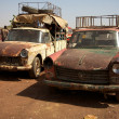 Stock Photo: Old taxi in Mali