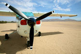 Small safari airplane — Stock Photo