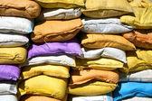 цветные мешки с песком — Стоковое фото