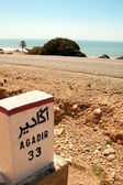 Sign road on the way to Agadir — Stock Photo