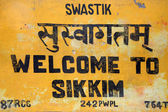 Thank you, visit again sign board in Sikkim — Stock Photo