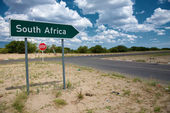 South Africa sign road — Stock Photo