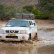 Crossing of a river by 4x4 — Foto de Stock