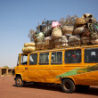Loaded African min van - Stock Photo