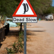 Funny squirrel signboard in Namibi- SOlitaire — Stock Photo #5121798