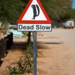 Funny squirrel signboard in Namibia - SOlitaire — Stock Photo