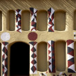 Urban detail of the traditional architecture in Mali — Stock Photo
