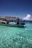 Корабль на Мальдивах — Стоковое фото