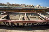 Barche fisher a saint louis — Foto Stock