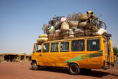 Loaded African min van — Stock Photo