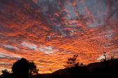 Pôr do sol sobre a falésia de bandiagara — Foto Stock
