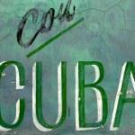 Постер, плакат: Con cuba and wall