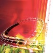 Amusement park illustration — Stock Photo