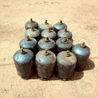 Gas tanks - Stock Photo