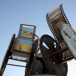 Film-roll with images in ouarzazate - Stockfoto