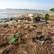 Rubbish on the beach — Stock Photo