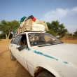 Loaded African taxi — Stock Photo