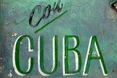 Con cuba and wall — Stock Photo