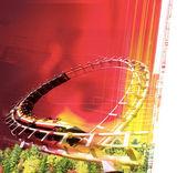 Amusement park illustration — Stock Photo