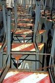 Metallic cart on wheel — Stock Photo