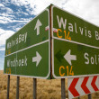 Sign Road in Namibia — Stock Photo #5259102