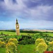 Big Ben in the countryside — Stock Photo