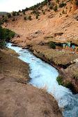 Cascata em cachoeira cascatas D'Ouzoud em Marrocos — Fotografia Stock