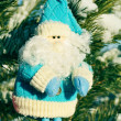 Santa claus in blue, Christmas - Stock Photo