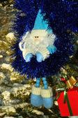 Santa Claus in blau, Weihnachten — Stockfoto
