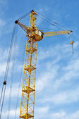 Crane cab, metal structural close-up — Stock Photo