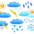 Weather icons drowing - Foto de Stock