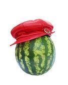 Wassermelone mit hut — Stockfoto