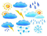 Weather icons drowing — Stock Photo