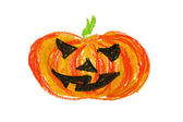 Halloween pumpkin drawing isolated — Stock Photo