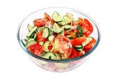 Izole cam kase salata — Stok fotoğraf