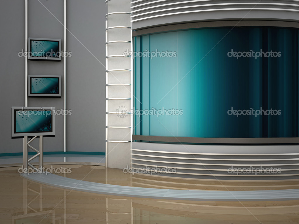 Studio tv for tv channel — Stock Photo #4954561