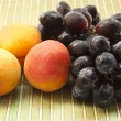 Grape and apricots — Stock Photo