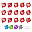 Royalty-Free Stock Vector Image: Multimedia // Stickers Series