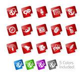 Social Media // Stickers Series — Stock Vector
