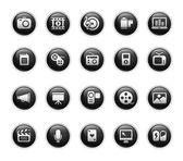 Multimedia // Black Label Series — Stock Vector
