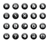 Web 2.0 Icons // Black Label Series — Stock Vector