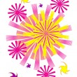 vector colorful fireworks — Stock Vector