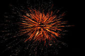 Colorful fireworks in the dark sky — Stock Photo