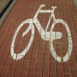 Sign on a bicycle — Stock Photo #3940649