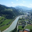 View from the tower of a medieval castle in Austria Hohenwerfen - Zdjęcie stockowe