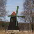 Old windmill on island during winter — Foto Stock #4844529