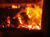 Coal fire grate boiler — Stock Photo