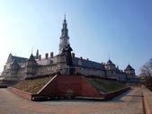 El monumento, una estatua de juan pablo ii en jasna gora en czestochowa — Foto de Stock