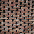 Wall with loose bricks and roughly arranged as a background — Stock Photo